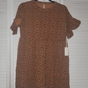 Rylee + Cru Dresses - RYLEE CRU Cheetah Babydoll Dress size S